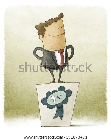 businessman winner - stock photo