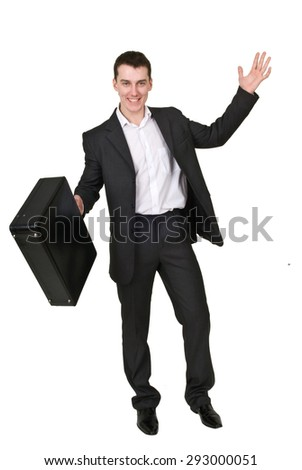 Businessman with a case