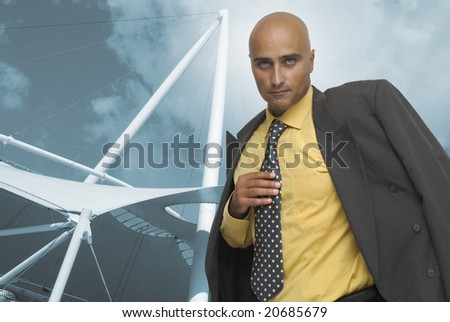 Businessman with a mix background