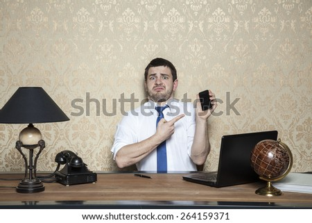 businessman with a strange expression