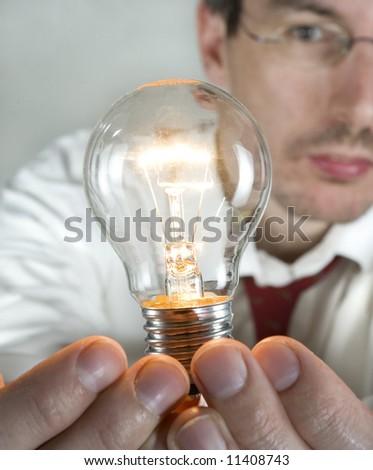 businessman with an idea - stock photo