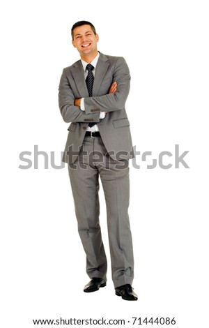 businessman with arms folded - stock photo