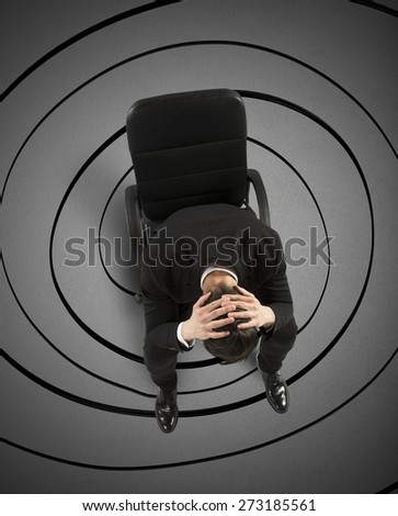 Businessman with big mess in the head - stock photo