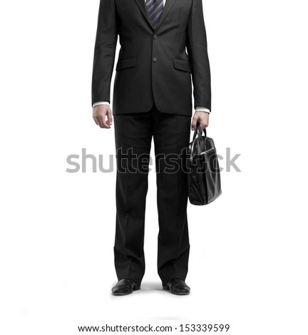 businessman with briefcase on white backgrounds