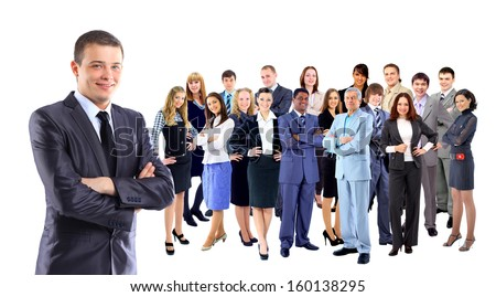 Businessman with coworkers. - stock photo