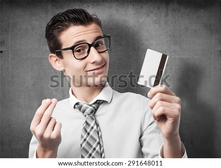 businessman with credit card - stock photo