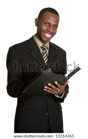 Businessman with Daily Planner