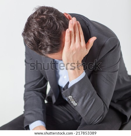 Businessman with depression