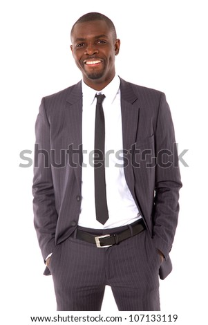 businessman with hands in pocket