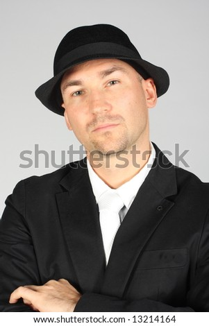 Businessman with hat