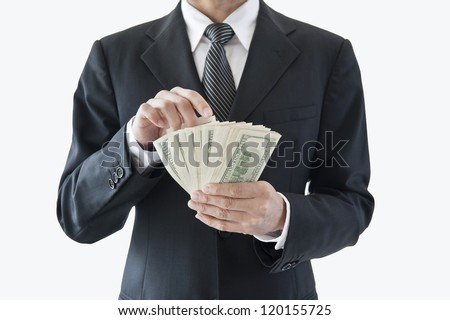 Businessman with money