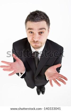 businessman with no ideas - stock photo