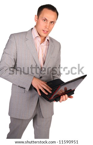 businessman with notebook