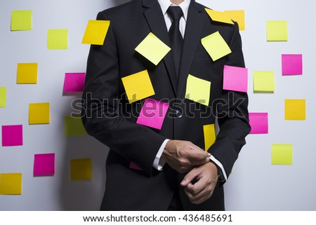 Businessman with notepaper