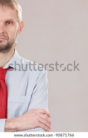 businessman with red tie