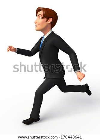 Businessman with run