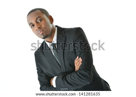 Businessman with serious expression - stock photo