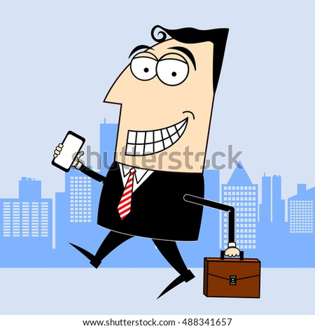 businessman smartphone briefcase clipart stock illustration rh shutterstock com clipart worried businessman businessman clipart vector