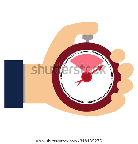 Businessman with stop watch Raster image timer - stock photo