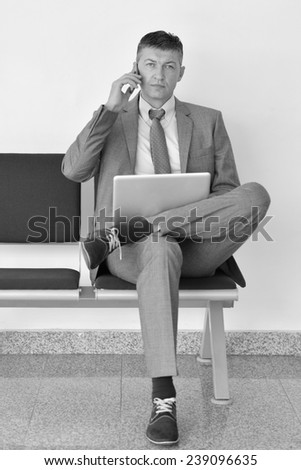 businessman work on your phone