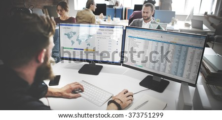 Businessman Working Analysis Accounting Concept - stock photo