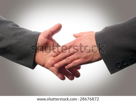 businessmans shaking hands