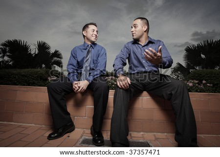 Businessmen discussion