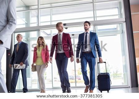 Businessmen go to business trip - stock photo