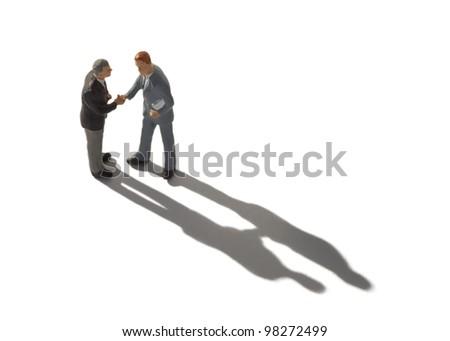 Businessmen handshake concept - stock photo