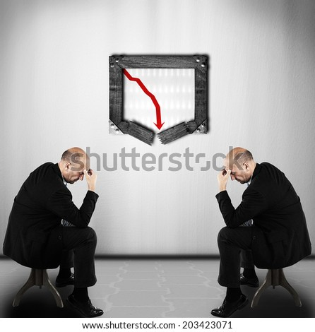 Businessmen in a crisis - stock photo