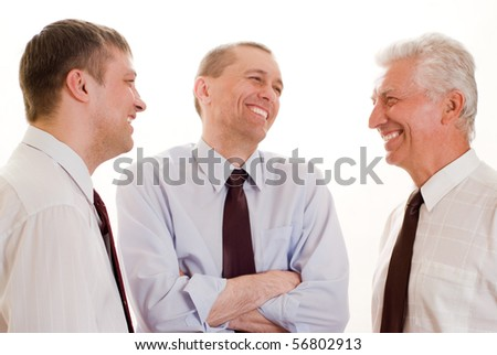 businessmen on a white background