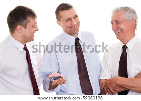 businessmen on a white background - stock photo