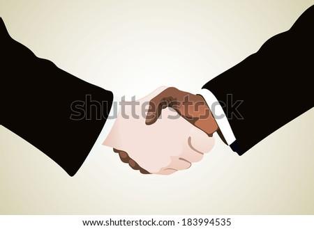 businessmen shaking hands - stock photo