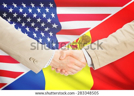 Businessmen shaking hands - United States and Andorra