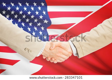 Businessmen shaking hands - United States and Bahrain