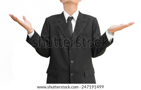 Businessmen  with gestures no problem - stock photo