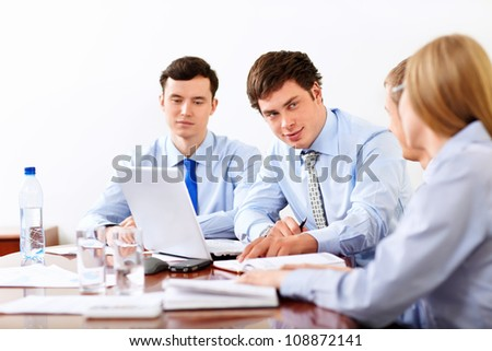 Businessmen with laptop
