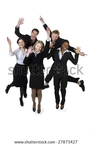 Businesspeople celebrating - stock photo