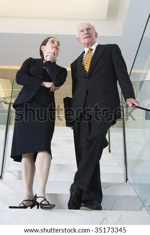 Businesspeople discussing - stock photo