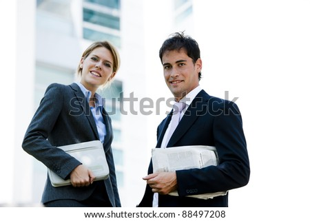 Businesspeople Outdoors - stock photo