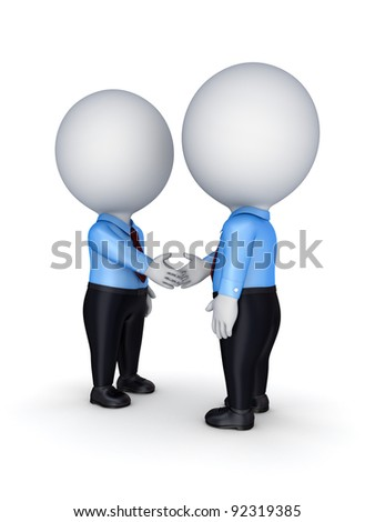 Businesspeople shaking hands.Isolated on white background. - stock photo