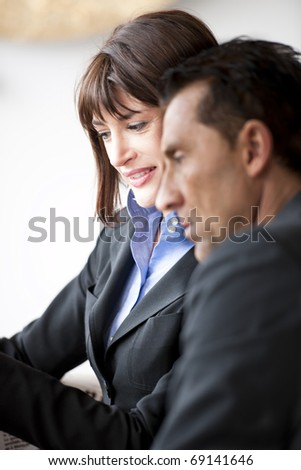 Businesspeople Speaking Friendly - stock photo