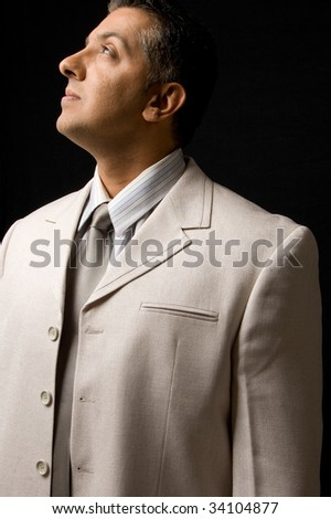 Businessperson looking away - stock photo