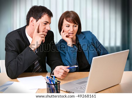 businessteam in a meeting - stock photo