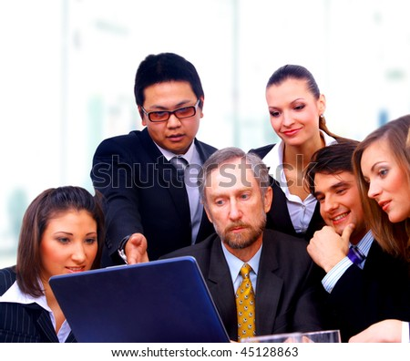 businessteam in offece - stock photo