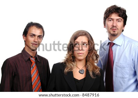 businessteam islated on white background - stock photo