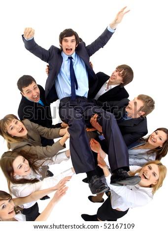 businessteam isolated on white background - stock photo