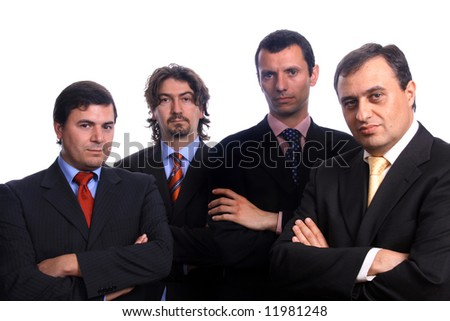businessteam over white background - stock photo