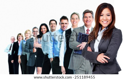 Businesswoman and Group of business people team.  - stock photo