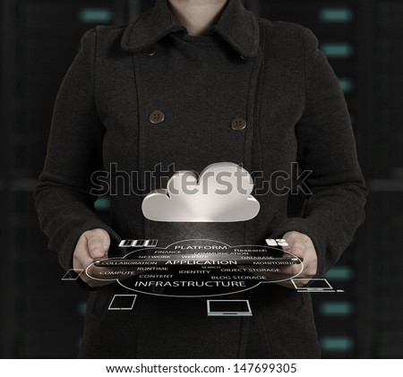 businesswoman and online business concept - stock photo